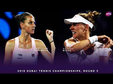 Karolina Pliskova vs. Alison Riske | 2019 Dubai Third Round | WTA Highlights