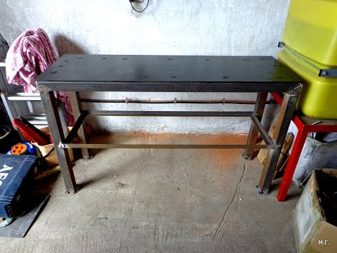 Как самому сделать слесарный стол, верстак.