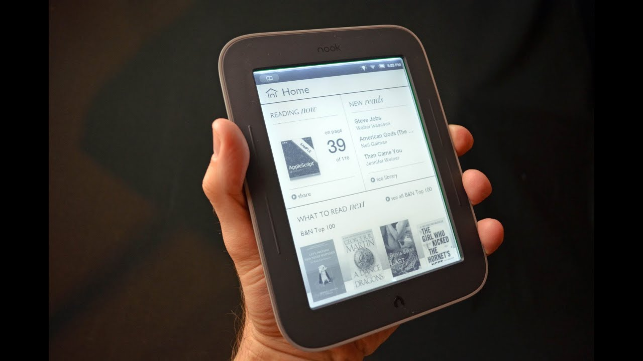 Barnes Amp Noble Nook Simple Touch With Glowlight Unboxing