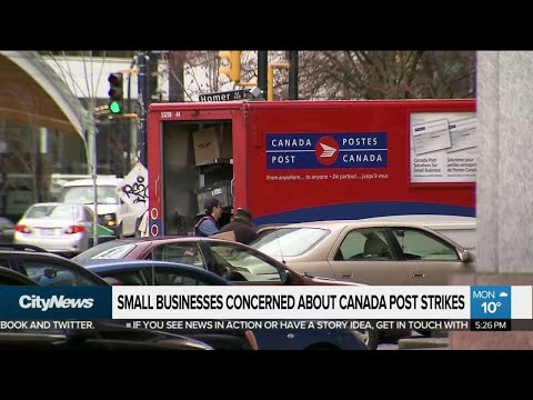 Small businesses concerned about Canada Post strikes