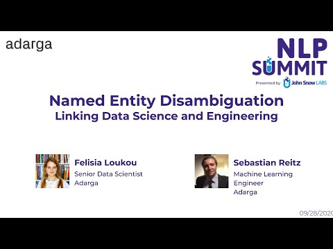 Disambiguation – Linking Data Science and Engineering | NLP Summit 2020