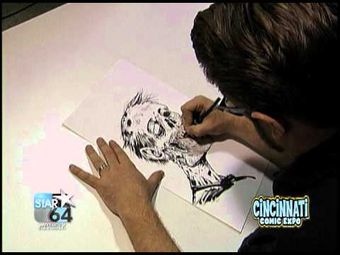 Tony Moore Time Lapse Zombie Sketch