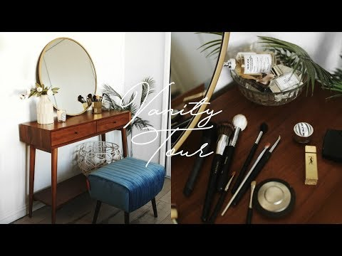VANITY TOUR + ORGANIZATION! MINIMAL & TRENDY ROOM DECOR IDEAS 2018