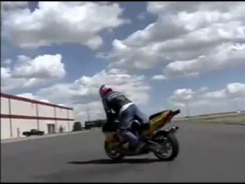 Motorcycle Stunts and wheelies on highways