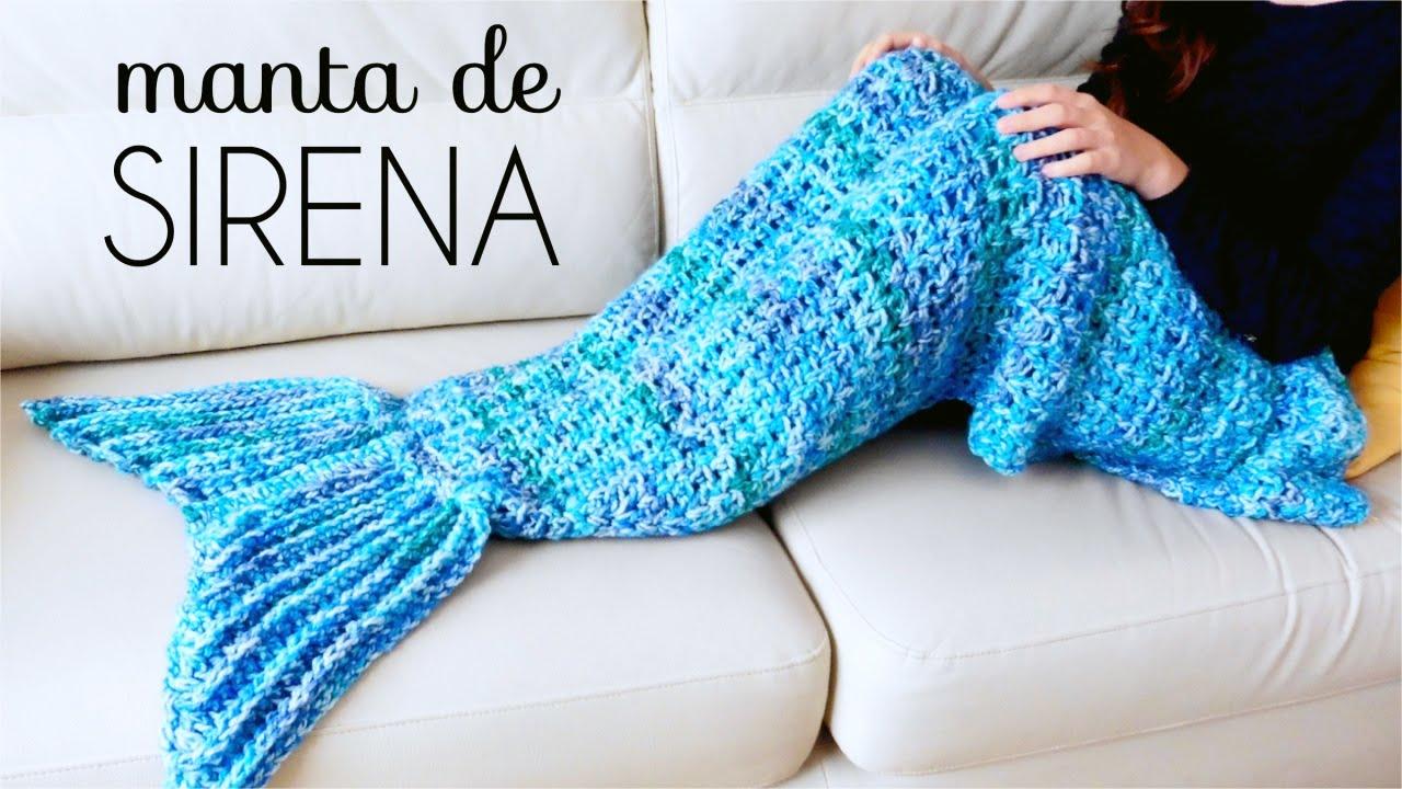 Manta de COLA DE SIRENA a Crochet - tutorial paso a paso (ENGLISH ...