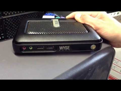 How to reset a Wyse Cx0 C10LE WTOS Thin Client terminal to factory defaults (or factory settings)