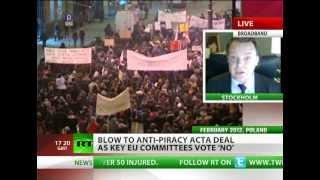 Falkvinge: ACTA dealt three heavy blows in Europe