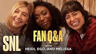SNL Fan Q&A with Heidi Gardner, Ego Nwodim and Melissa Villaseñor