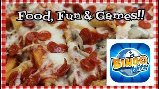 Pizza Fries and Video Games ~ Featuring Playtika Bingo Blitz App ~ Noreen's Kitchen