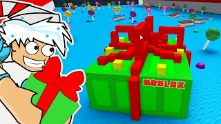 GIANT CHRISTMAS PRESENT BOAT / BUILD A BOAT TO TREASURE ROBLOX