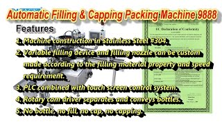Automatic Filling & Capping Packing Machine 9888 for Eye Drops Bottle