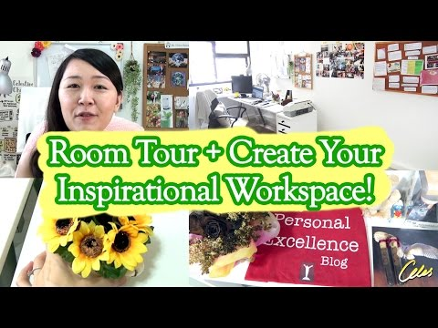 Room Tour + Create Your Inspirational Workspace!