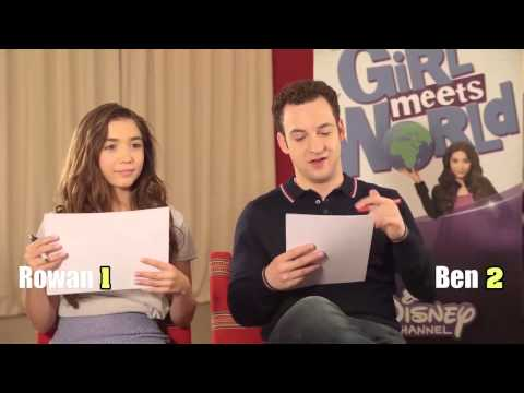 Disney's Girl Meets World stars Rowan Blanchard and Ben Savage play 90s v noughties