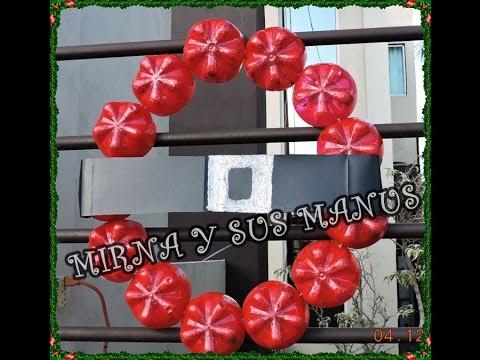 Reciclaje como hacer una corona navide a recycling how - Como hacer decoraciones navidenas ...