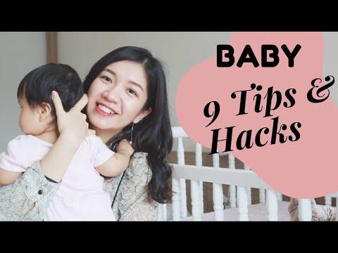 9 MẸO HAY GIÚP CHĂM SÓC TRẺ SƠ SINH DỄ DÀNG HƠN - BABY TIPS AND HACKS// Mỹ Thuận