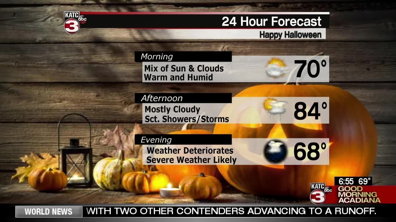 Daniel's Halloween Weather Forecast 10/31/18
