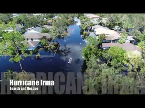Search and Rescue with drones after Hurricane