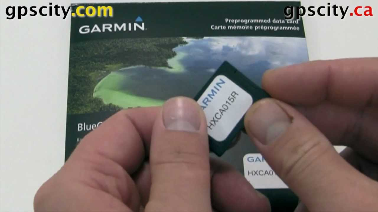 Loading Garmin Bluecharts G2 on a Oregon Touchscreen GPS