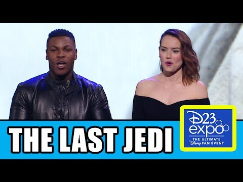 Star Wars THE LAST JEDI PANEL + D23 Behind The Scenes Trailer
