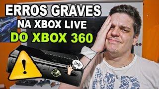 A XBOX LIVE DO XBOX 360 ESTÁ TODA BUGADA, ERROS GRAVES QUE VOCÊ NÃO SABIA ( ENTENDA O CASO ) 😭