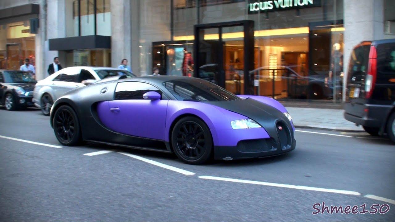 Matte Purple Bugatti Veyron