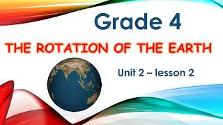 science - grade 4 - unit 2 lesson 2 The motion of the Earthساينس رابعه ابتدائي