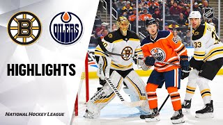 NHL Highlights | Bruins @ Oilers 2/19/20