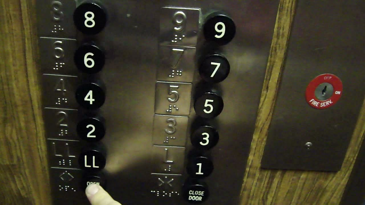 Chime Sign In >> Old Otis traction elevator @ The Genetti Hotel Williamsport PA - YouTube