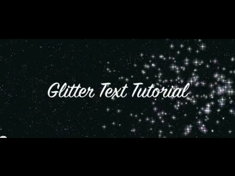create sparkling glitter text tutorial in 2 minutes in photoshop cs5