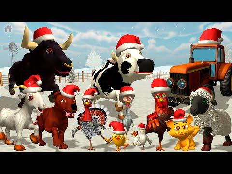 El pollito y el tractor de la Granja en Navidad