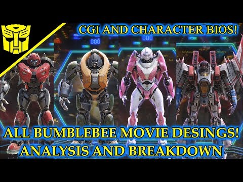 All Cybertron Characters CGI Designs And Info Revealed! Transformers Bumblebee(2018)