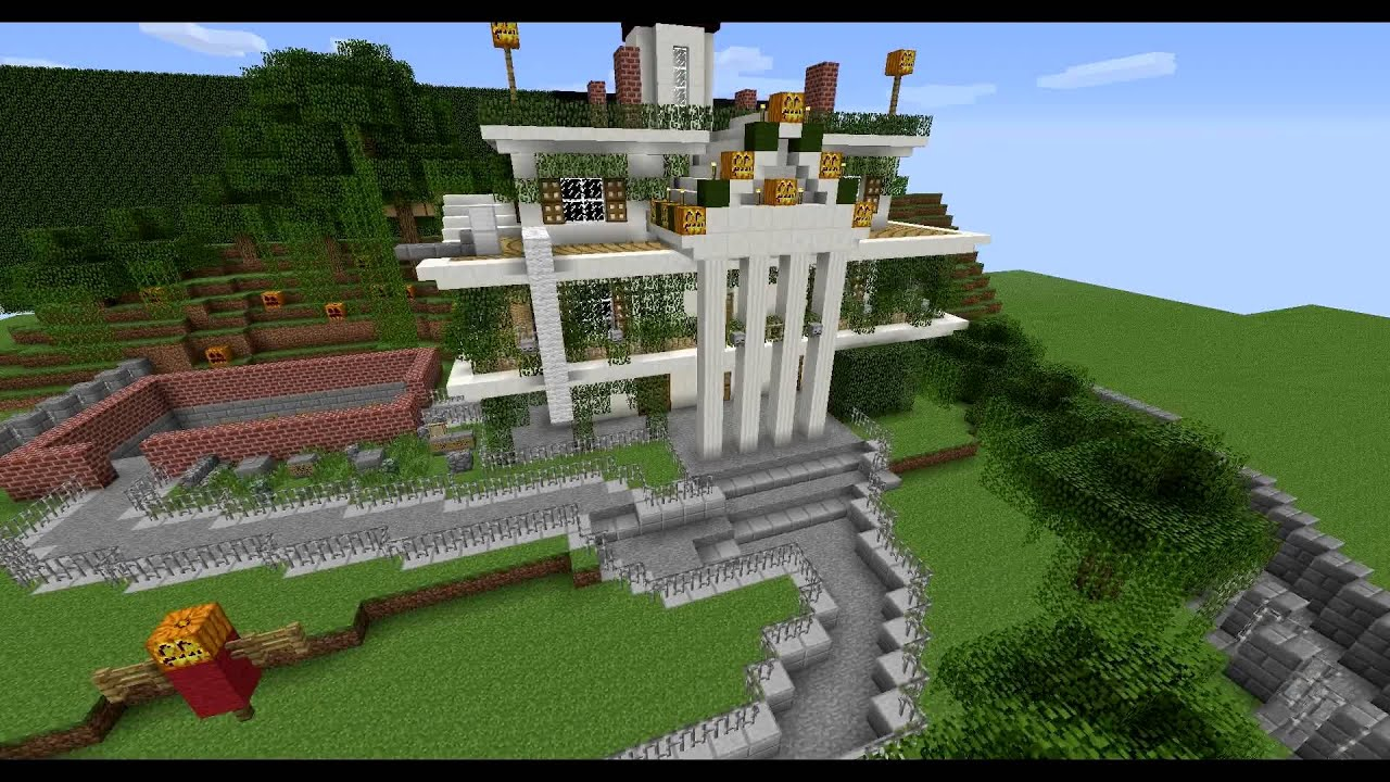 minecraft  new orleans square attractions  custom map