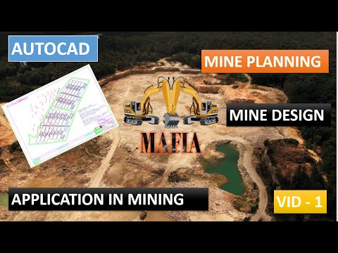 commands used in auto-cad / application of autocad in mining -1/ mine planning & design
