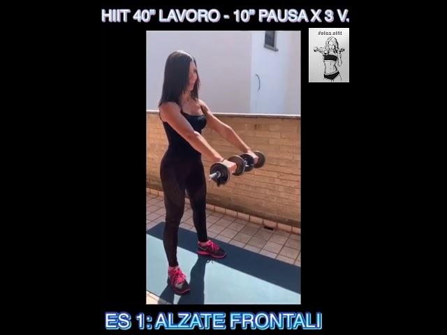 """CIRCUITO HIIT 40"""" LAVORO-10"""" PAUSA X 3 VOLTE #45"""