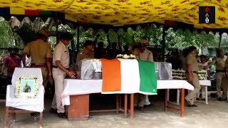 Coffin Of Slain SI Amitav Malik At NSCBI Airport