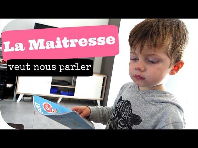 LA MAITRESSE VEUT ME PARLER ! - Vlog famille