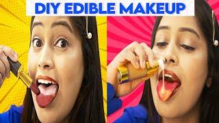 💄Homemade Natural Makeup Foundation, Eyeliner, Lipstick, Blush|Diy Edible Makeup Pranks|Be Natural