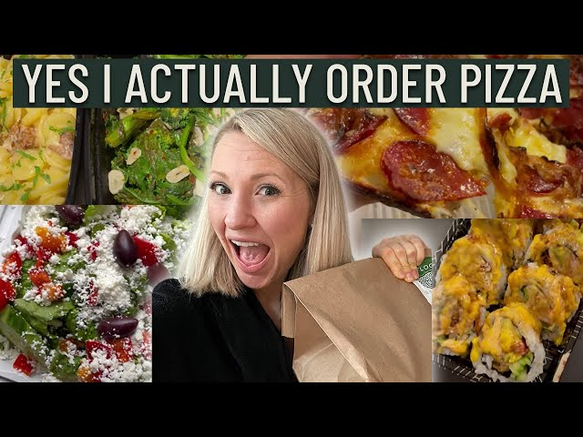 What a Dietitian Eats When Ordering Take Out & Fast Food (I Ate all the Pizza with ZERO Guilt)