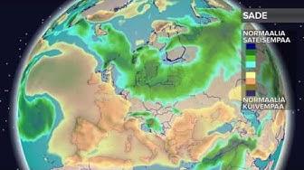 Kuukausiennuste sateista 11.4.2017: Aluksi kuivinta on Länsi-Euroopassa