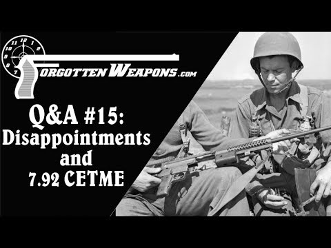 Q&A #15: Disappointing Guns, 7.92x41 CETME, and 1873 Revolvers