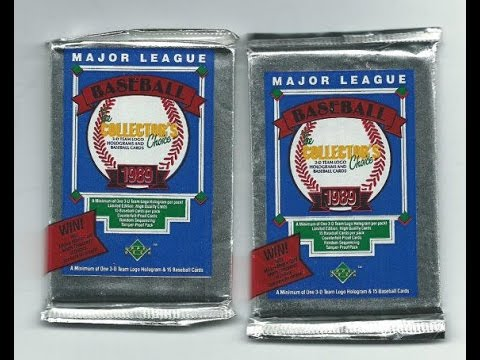 1989 Upper Deck Collector's Choice Pack Break - Hunting for Griffey!