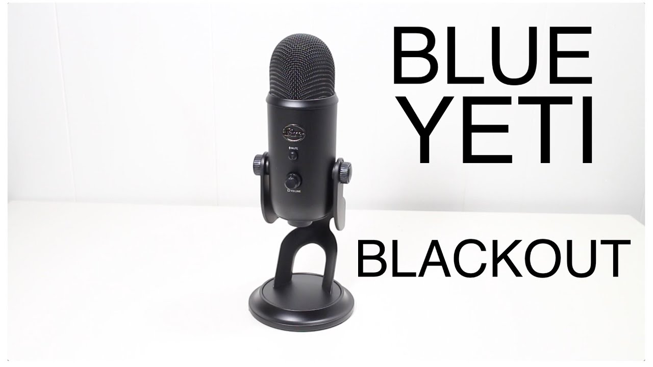 Blue Yeti Microphone Blackout