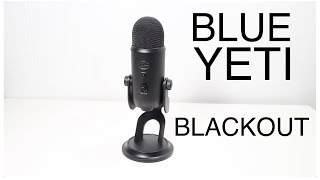 Blue Yeti Blackout microphone unboxing & test