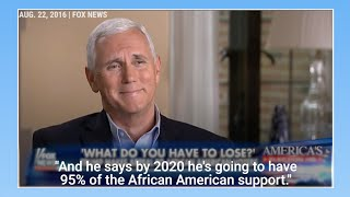 Watch Mike Pence laugh over Trump's claim that he will have 95% of the black vote in 2020