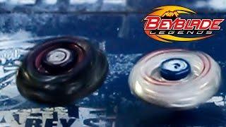 Beyblade Legends Gravity Destroyer AD145WD vs Lightning L-drago 100HF!