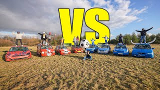 ROCKET LEAGUE IN REAL LIFE! (CAR FOOTBALL GAME)
