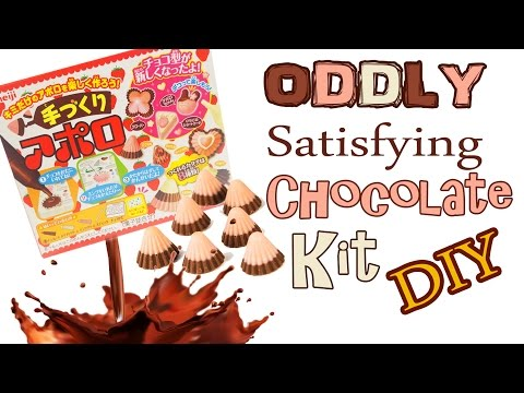 ASMR CRAFTING CHOCOLATE CANDY KIT Oddly Satisfying chocolate slime jelly NerdEcrafter japanese kit