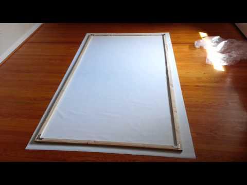Homemade projector screen under $45