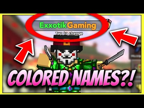How To Get COLOR Usernames In Pixel Gun 3D! (PG3D Color Codes 2017)
