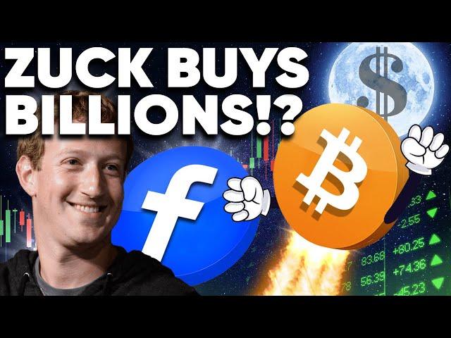 Zuckerberg Buys Billions in BITCOIN! Don't PANIC SELL!!